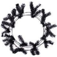 Black Elevated Work Wreaths Form