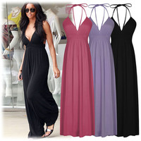 Long Maxi Summer Beach Party Hawaiian Boho Evening Sexy Sundress Women Casual Dress