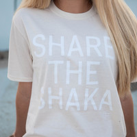 Adult 'Share The Shaka' T-Shirt in Natural