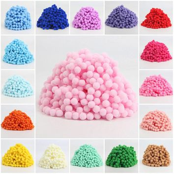500pcs Approx 8mm Pom pom Multi Color Pompom Fur Craft DIY Soft Ponpons Wedding Decoration/Sewing On Cloth Accessories