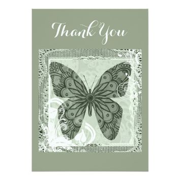 Elegant Butterfly Art Thank You card