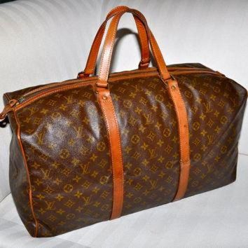 VLX9RV Make an Offer LOUIS VUITTON Keepall 55 Sac Souple Duffel Bag Large Size LV Monogram Tr