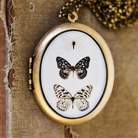 Photo Locket  Paper Kites  Butterfly Trio by HeartworksByLori