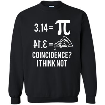 Funny Math Pun Pi Day 2019 Pi Equals Pie T-Shirt Printed Crewneck Pullover Sweatshirt 8 oz