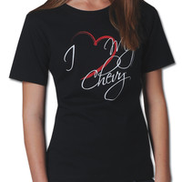 """Chevrolet Ladies I Love My Chevy"""" Tee-Chevy Mall"""