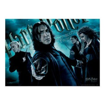 Severus Snape With Death Eaters 1 Posters from Zazzle.com