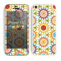 The Vintage Vector Color Circle Pattern Skin for the Apple iPhone 5c