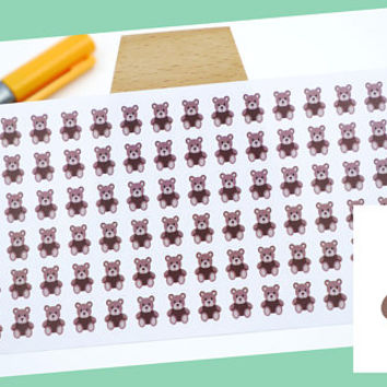 PLANNER STICKER || teddy bear || animal stickers || small colored icon | for your planner or bullet journal