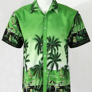 Hawaiian Shirt Men 2015 New Arrivals Short Sleeve Male Beach Shirts Free Shipping