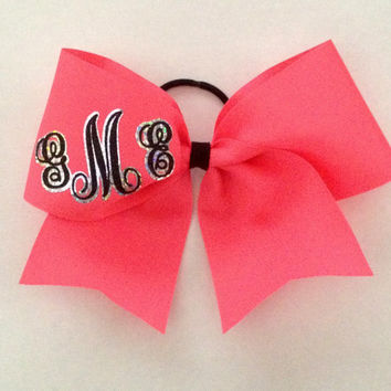 Cheer Bow Personalized With Monogram