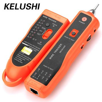 KELUSHI Diagnose Tester XQ-350 for UTP STP Cat5 Cat6 RJ45 LAN Network Cable Line Finder RJ11 Telephone Wire Tracker/ Tracer