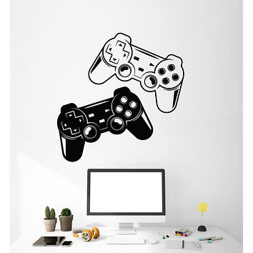 Vinyl Wall Decal Video Game Gamer Joystick Room Decoration Stickers (3116ig)