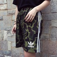 Adidas Three stripe Camo Shorts
