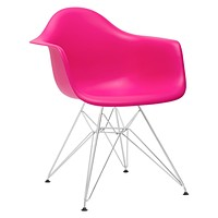 Padget Arm Chair in Fuchsia (Set of 2)