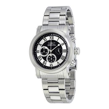 Invicta Specialty Chronograph Black and Silver Dial Mens Watch 15210