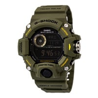 Casio GW9400-3 Men's G-Shock Rangeman Tough Solar Black Digital Dial Olive Resin Strap Chronograph Dive Watch