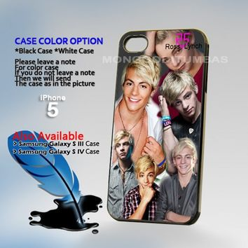 Ross Lynch R5 colege, Print on Hard Cover iPhone 5 Black Case