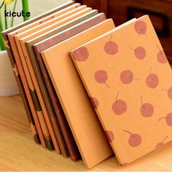 1pcs Small Blank Kraft Paper Notebook Notepad Sketchbook Diary Journal Paint Drawing Pattern Randomly Stationery