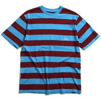 Range Stripe Pocket Crew T-Shirt Teal