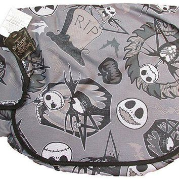 Disney Nightmare Before Christmas Jack Skellington Messenger Bag- Light Gray