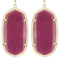 Danielle Earrings in Maroon Jade - Kendra Scott Jewelry