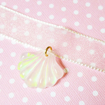 Mermaid Princess Seashell Choker, Fairy Kei Choker
