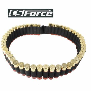 CS Force 140*5cm 50 Shotgun Shell Bandolier Belt 12 Gauge Ammo Holder Carrier Military Airsoft Hunting Tactical Cartridge Belt