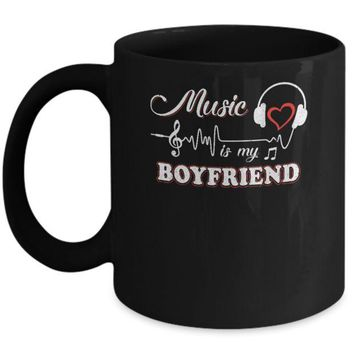 ONETOW Funny Music Is My Boyfriend Music Mug