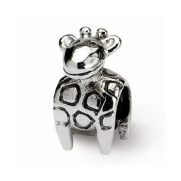 Sterling Silver Kids Giraffe Bead