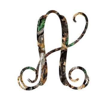 Single Initial Camo Real Tree Monogram Decal , Car Decal ,  Camo , Country Life , Hunting , Southern , RTIC Decal , Yeti Tumbler Decal