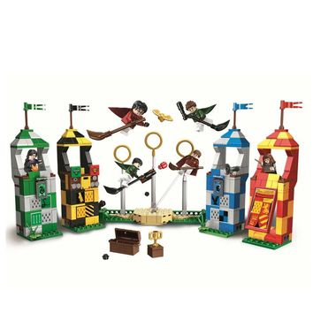 New Harry Potter Movie Quidditch Match Building Blocks Bricks Toys For Children Christmas Gifts Compatible With Lego 75956