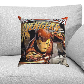 Iron Man Marvel Adventures Comic Custom Pillow Case for One Side and Two Side