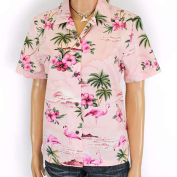 Florida Flamingos Aloha Shirt for Women