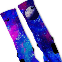 Galaxy MOON Custom Nike Elite Socks!!
