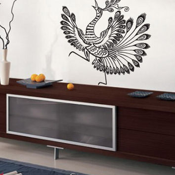Vinyl Wall Decal Sticker Asian Style Peacock Bird #751