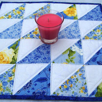 Quilted Table Topper, Handmade, Square, Patchwork