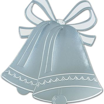 Foil Wedding Bell Silhouette - CASE OF 24