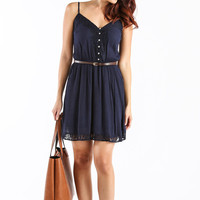 Melinda Navy Dress