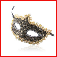 Halloween Masquerade Crystal Rhinestones Decor venetian carnival Mask For Party Dress Party Mask Sexy Lace Mask Free Shipping