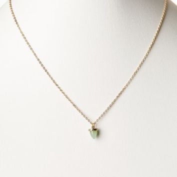 Mint Green Delicate Stone Pendant Necklace
