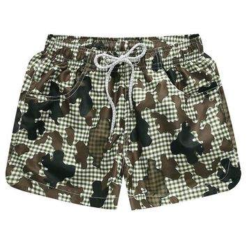 Sexy Summer Beach Short for Women Quick Dry Surfing Swimming Camouflage Swim Shorts Elastic Waist Camo Woman Beach Boxer Shorts