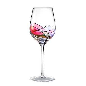 Hand Painted Wine Glasses Bouquetier Unique Wine Gifts for Housewarming Mom Women Men Birthday Engagement Wedding15 OZ Set of 1 White or Red Wine Glass
