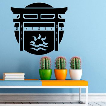 Torii Japanese Gate Wall Sticker Vinyl Decal Japanese Culture Home Interior Design Art Wall Murals Bedroom Decor Made in US