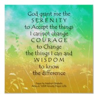 Serenity Prayer Green & Gold Landscape Print from Zazzle.com
