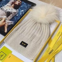FENDI Woman Men Fashion Beanies Knit Winter Hat Cap