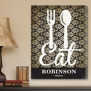 Bistro Sign Canvas Art