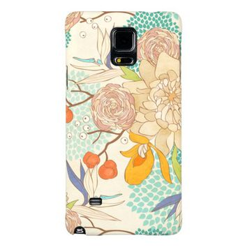 Elegant Modern Rose Peony Flower Pattern Galaxy Note 4 Case