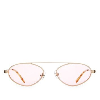 Crap Eyewear - The Proto Riddim - Brushed Gold w/ Blonde Tortoise Tips / Pink Tint CR-39