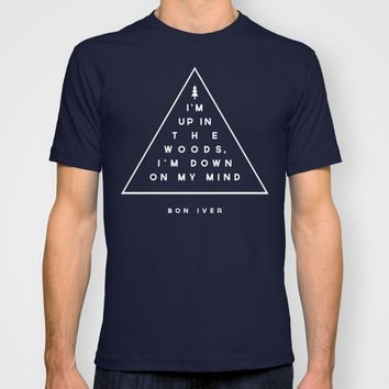 Woods -- Bon Iver T-shirt by Zeke Tucker