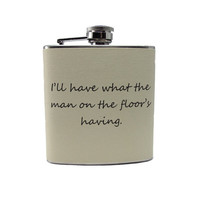 Man on Floor Hip Flask 6oz 8oz or 12oz Liquor by thehairofthedog